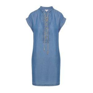 Michael Kors Chambray Lace-Up Shift Dress